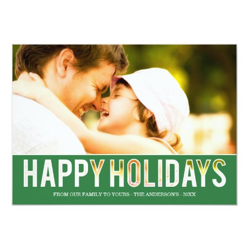 HOLIDAY CUT OUT | HOLIDAY PHOTO CARD