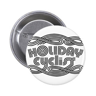 HOLIDAY CYCLIST BUTTON