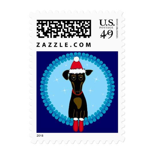 Holiday Dachshund Postage