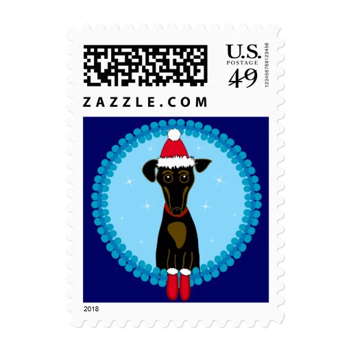 Holiday Dachshund Postage Stamps