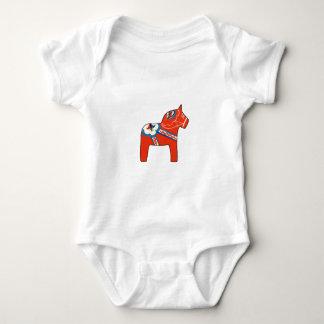 Holiday Dala Horse Baby Bodysuit