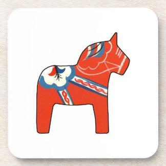 Holiday Dala Horse Beverage Coaster