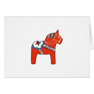Holiday Dala Horse Card