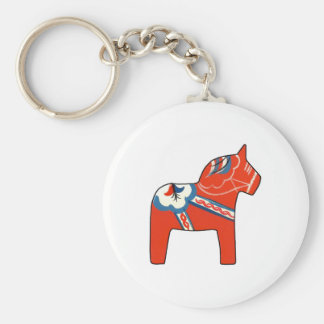 Holiday Dala Horse Keychain