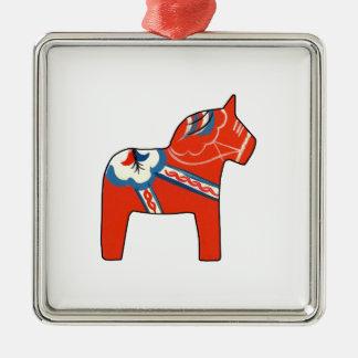 Holiday Dala Horse Metal Ornament