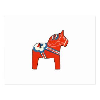 Holiday Dala Horse Postcard