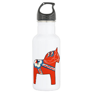 Holiday Dala Horse Stainless Steel Water Bottle