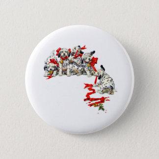 Holiday Dalmatian Pups Button