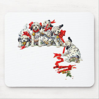 Holiday Dalmatian Pups Mouse Pad