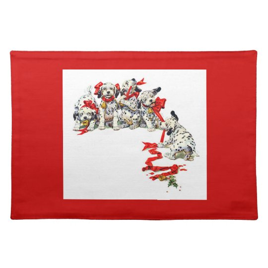Holiday Dalmatian Pups Placemat