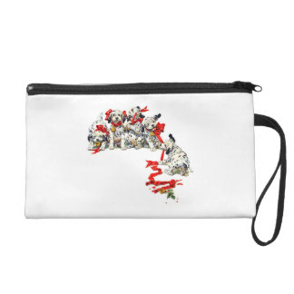Holiday Dalmatian Pups Wristlet