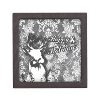 Holiday Damask Lung Cancer Awareness Products Gift Box