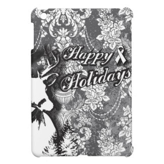 Holiday Damask Lung Cancer Awareness Products iPad Mini Cases