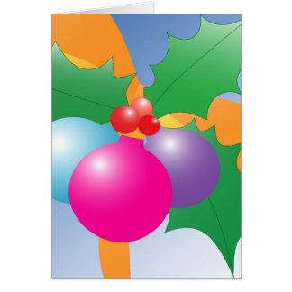 Holiday decor card