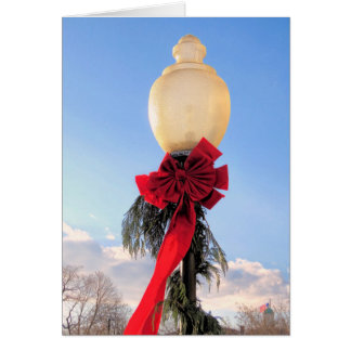 Holiday Decorated Lamp Post Card