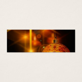 Holiday Decoration Gold Christmas Bauble Light Mini Business Card