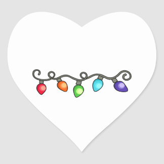 Holiday Decorations Heart Sticker