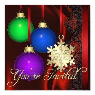 Holiday Decorations Red Silk Elegant Invitation
