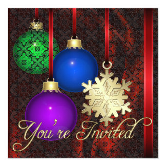 Holiday Decorations Red Silk Lace Invitation