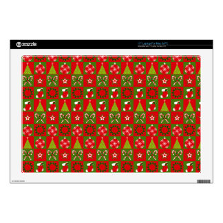 """Holiday Decorative Squares 17"""" Laptop Decal"""