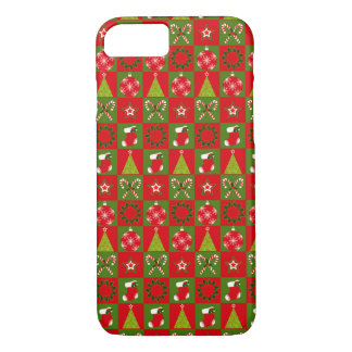 Holiday Decorative Squares iPhone 7 Case