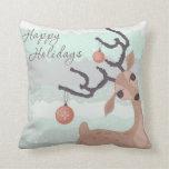 Holiday Deer Pillow