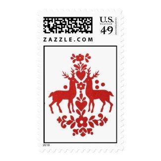 holiday deer postage