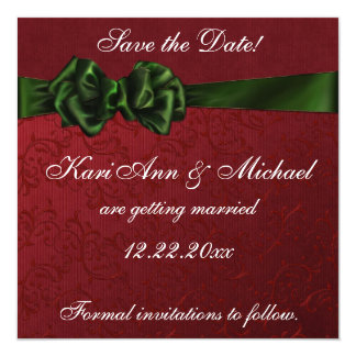 Holiday Delight Save the Date Card