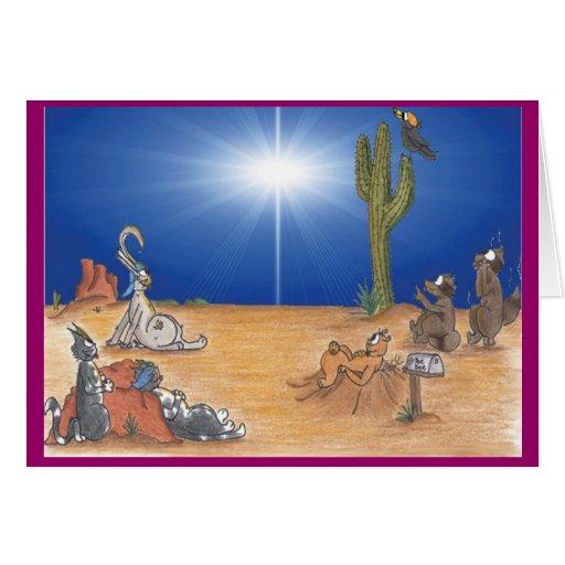 Holiday Desert Star Greeting Card