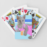 Holiday destination playing cards
