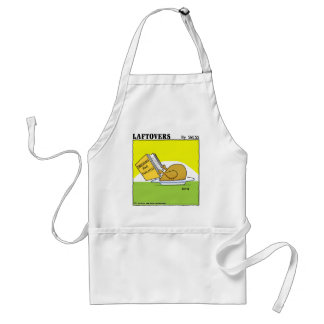 Holiday Dinner Laftovers Turkey Cartoon Funny Adult Apron