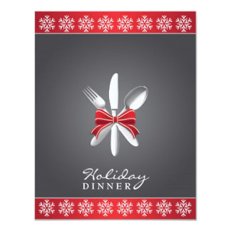 Holiday Dinner Party Flat Invitation