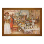 Holiday Dinner Party with Carl Larsson 5x7 Paper Invitation Card
