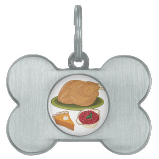 Holiday Dinner Pet ID Tag