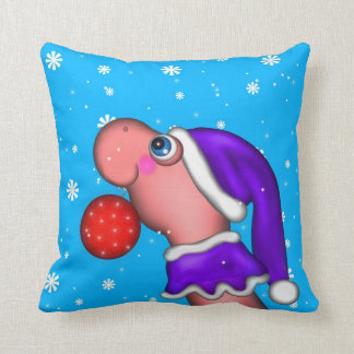 Holiday Dino Throw Pillow