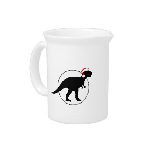 HOLIDAY DINOSAUR -.png Beverage Pitchers