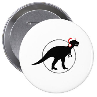 HOLIDAY DINOSAUR -.png Pinback Buttons
