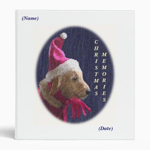 Holiday Dog Christmas Memories Binder