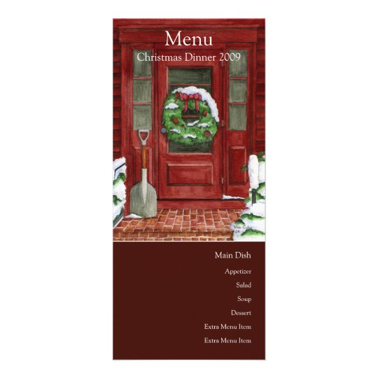 Holiday Door Menu Card