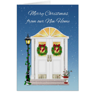 Holiday Door, New Home, Greeting Card