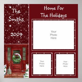 Holiday Door Scrapbook Page Poster