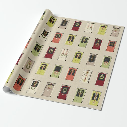 Holiday Doors Wrapping Paper Zazzle