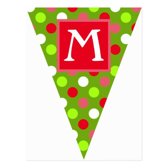 Holiday Dots Mix Bunting Flag Postcards