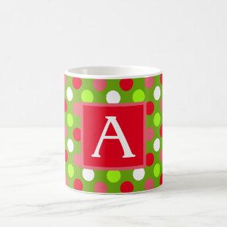 Holiday Dots Monogram Mug