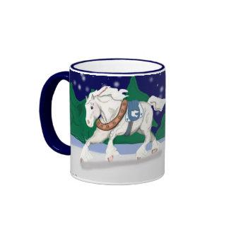 Holiday Draft Horses Mug