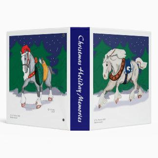 Holiday Draft Horses Scrapbook Binder