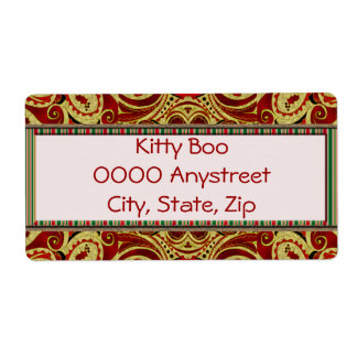 Holiday Dream Large Personalized Shipping Label