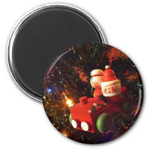 Holiday Drive 2 Inch Round Magnet