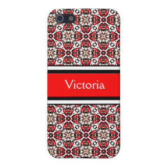 Holiday Eastern European Folk Art Damask Pattern iPhone SE/5/5s Case