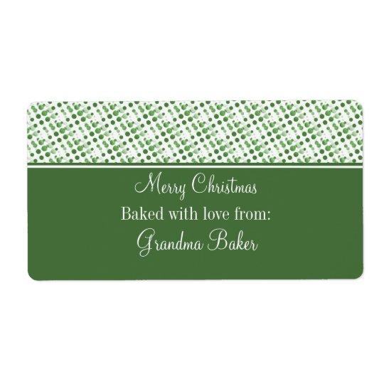 Holiday Effervescence Christmas Labels, Dark Green Label